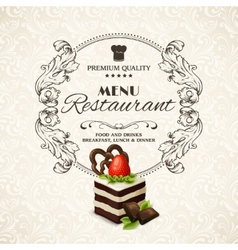 Sweets dessert restaurant menu vector