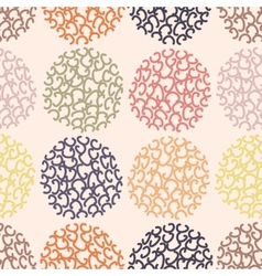 Seamless pattern polka dot doodle texture can be vector
