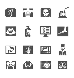 Ultrasound And X-ray Icons vector image