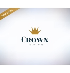Crown shape logo icon king leader boss vector