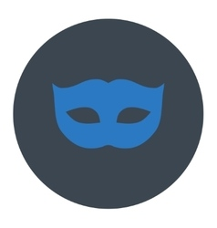 Privacy mask flat smooth blue colors round button vector