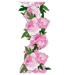 Garland with peonies vector