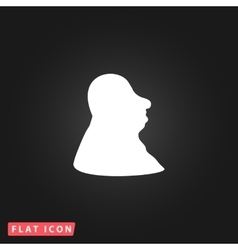 Full face fat man icon vector