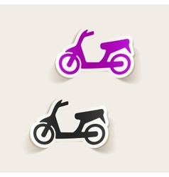 Realistic design element scooter vector