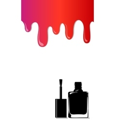 Rainbow stains nail polish vector