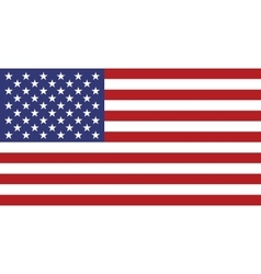 Flag of usa in correct proportion and colors vector
