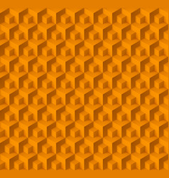 Abstract geometric background with cubes in yellow vector