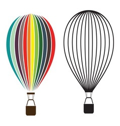 Air balloon isolated on white vector