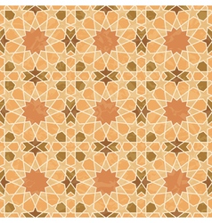 Arabic style vintage grunge pattern vector image vector image