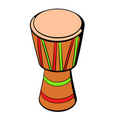 australian ethnic drum icon cartoon vector image