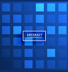 Blue tiles pattern background vector