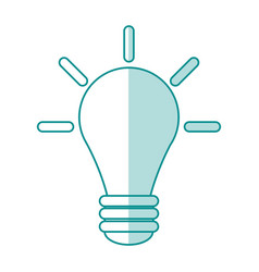 bulb cartoon silhouette shadow vector image vector image
