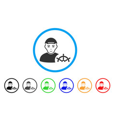 Captain rounded icon vector