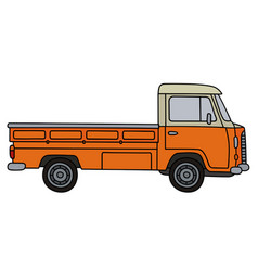 classic small truck vector image
