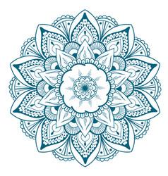 decorative floral round mandala vector image vector image