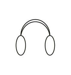 Ear flap fur headphones icon vector
