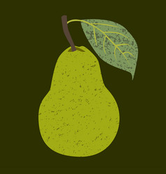 Fruit pear clip art vector