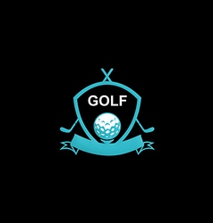 Golf emblem tournament logo vector
