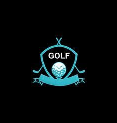golf emblem tournament logo vector image