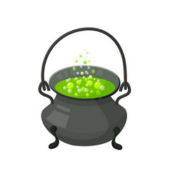 Halloween witch s cauldron with potion halloween vector