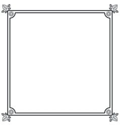 Isolated frame design vector image
