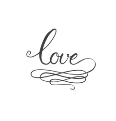 Love hand-drawn calligraphy vector image