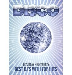 Mirror disco ball poster vector image vector image