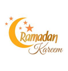 Ramadan kareem crescent moon vector