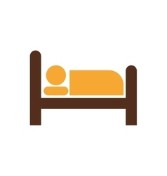 Room bed male hat hotel service icon vector