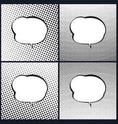 Set of speech bubble pop art vector