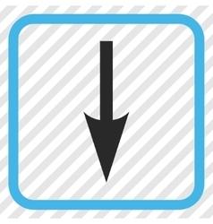 Sharp arrow down icon in a frame vector