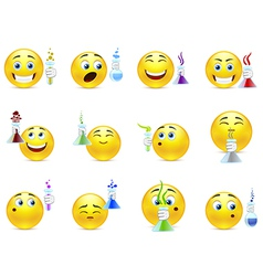 Smilies chemists vector image vector image