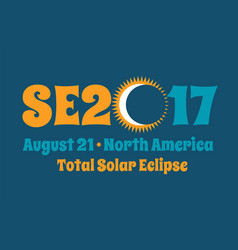 typography design for solar eclipse on august 21 vector image