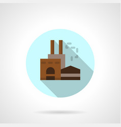Woodworking factory flat round icon vector
