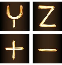 Y Z vector image vector image