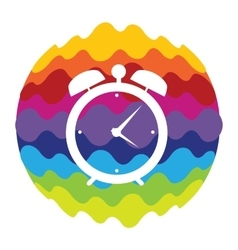 Time rainbow color icon for mobile applications vector