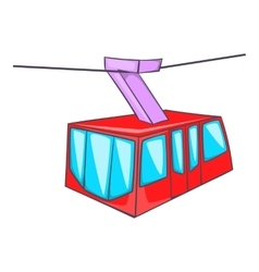 Istanbul tram icon cartoon style vector
