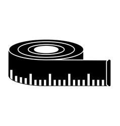 Isolated meter tape design vector