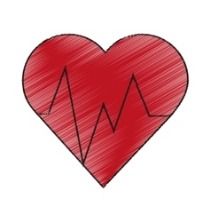 Isolated heart pulse design vector