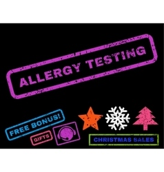 Allergy testing rubber stamp vector