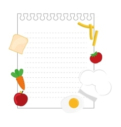Note page with food vector