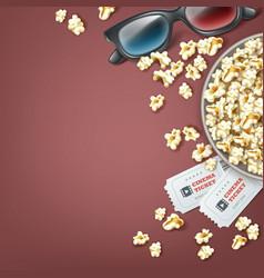 bucket of popcorn vector image