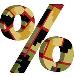 3d percent symbol vector
