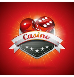 On a casino theme with dices vector