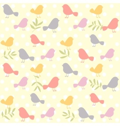 birds pattern retro vector image