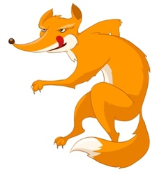 Cartoon character fox vector