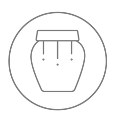 Drum instrument line icon vector