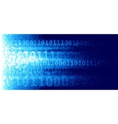 Abstract techno background with binary code vector