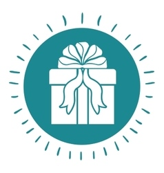 Gift box with ribbon isolated icon design vector