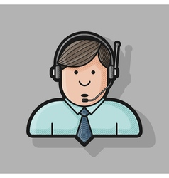 Administrator icon in a shirt and tie in the vector image